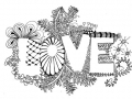 zentangle-love